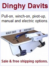 Davit systems for dinghies and PWCs.
