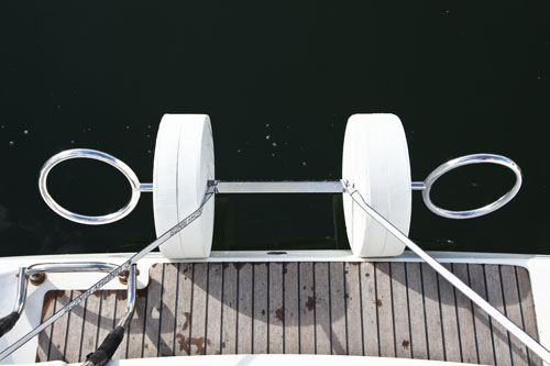 Dinghy rings inflatable boat davit system for sailboats and yachts from Allboatproducts.com