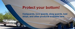 Keel guard strips for your boat or PWC keel