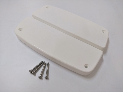 Engine skeg deck protection plate