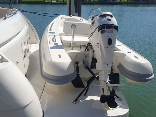 Dinghy tender chock davit system to store dinghies and PWCs on decks and swim platforms