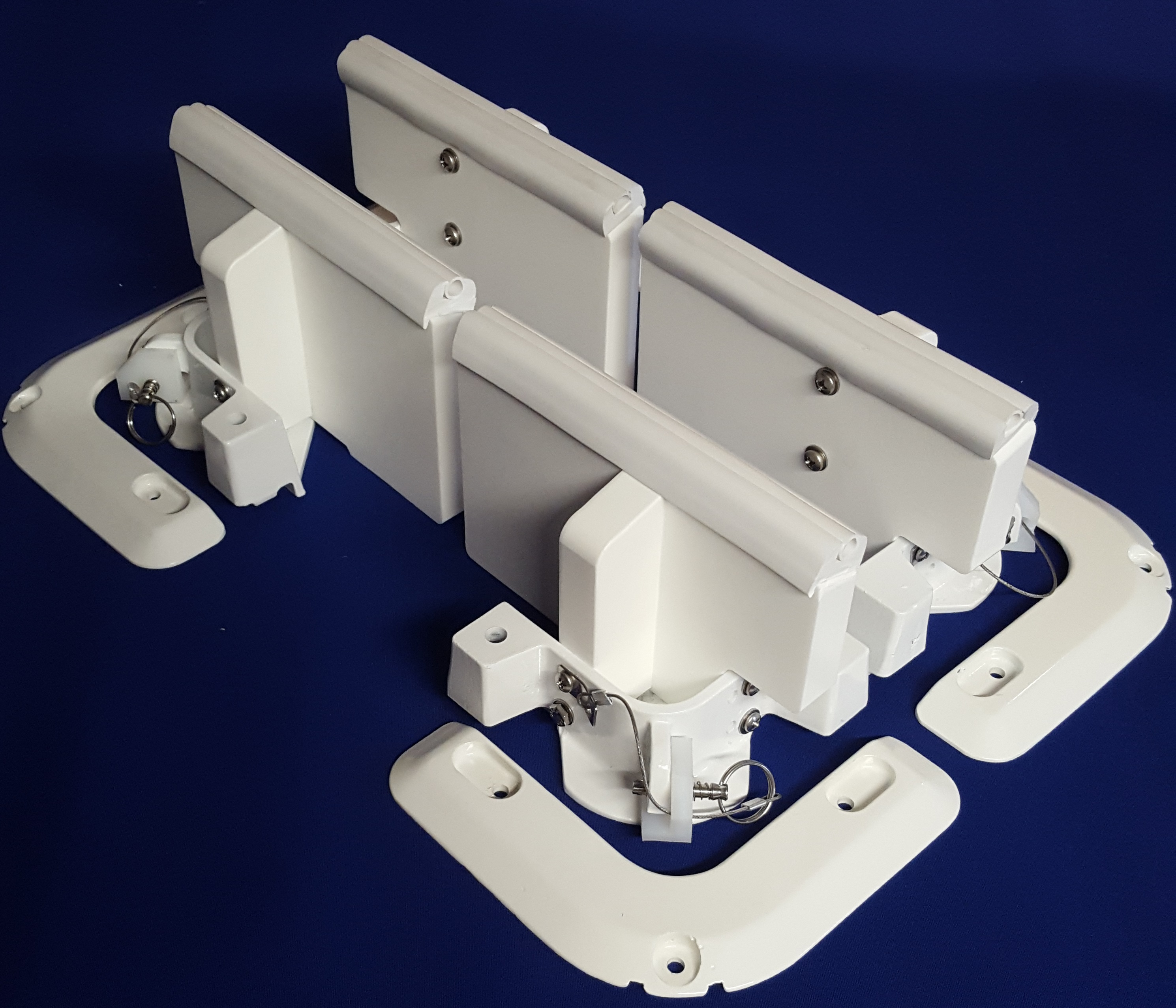 Dinghy tender chock davit system
