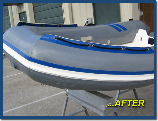 Inflatable boat paint