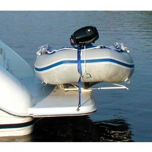 Pull-on davit system mounted