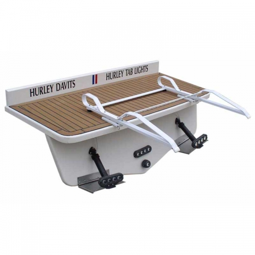 Pull on dinghy davit